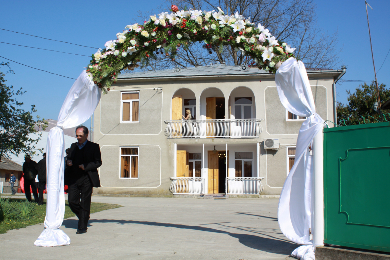 Modern Abkhaz court of newlyweds