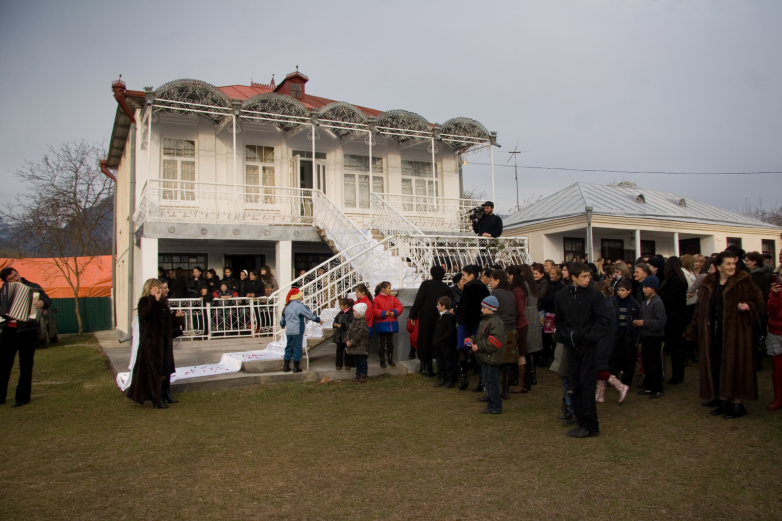 Modern Abkhaz court of the Gumba family at the wedding feast