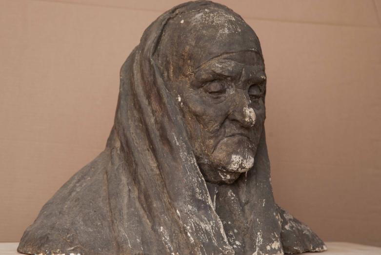 Работа Марины Эшба: «Портрет старой абхазки» или «Мамида», 1960-е годы