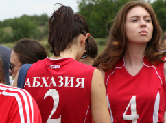 For the third year in a row, girls from Abkhazia have become the best in volleyball.  Like last year, they did not leave their rivals a chance to win