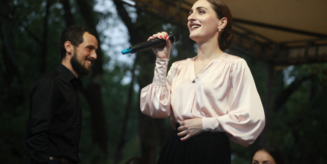 The famous Abkhaz singer, the public's favorite Madina Kvaratskhelia, performed at the concert