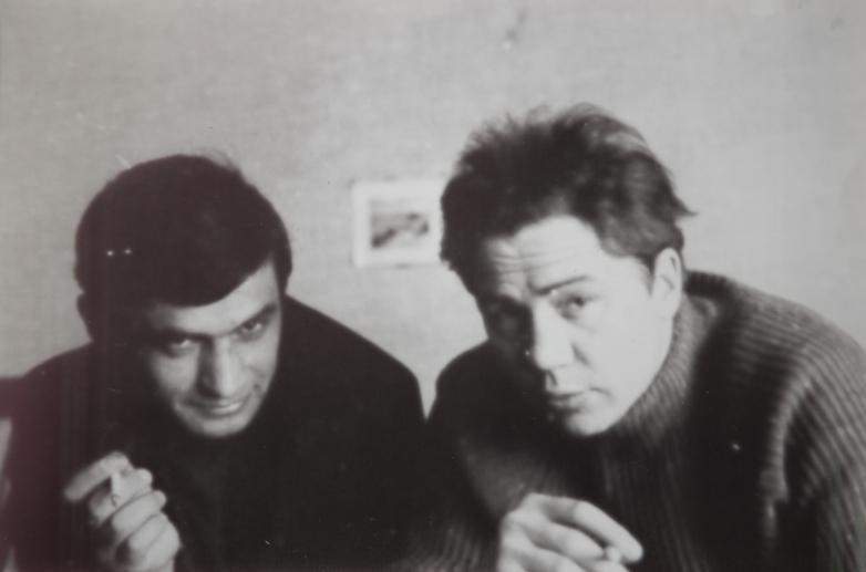 Gennady Alamiya and Bulgarian writer Nikolai Radev, 1971