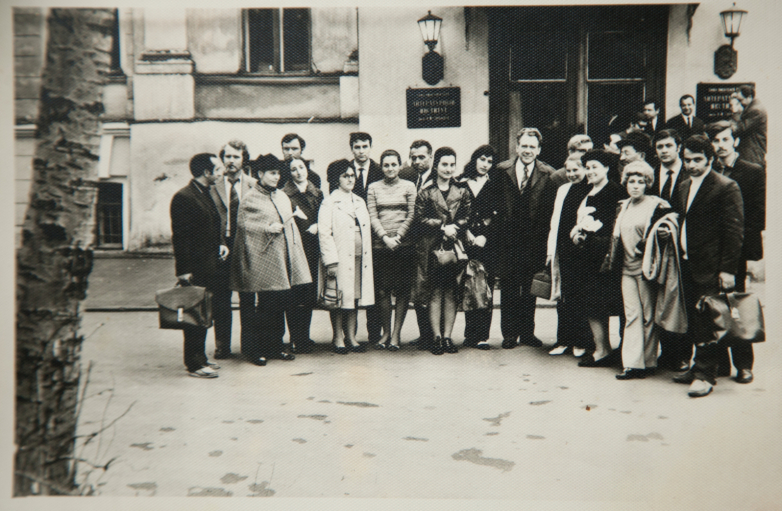 In the Literary Institute, 1973.  In the photo: Gennady Alamiya, second from right