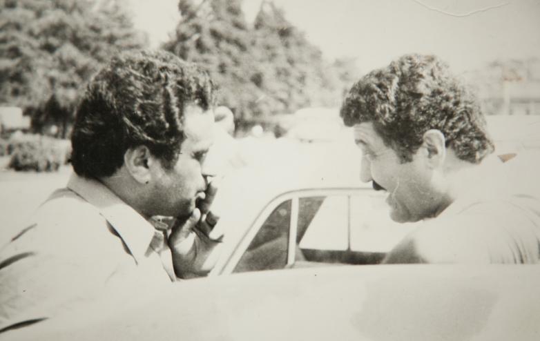 Геннадий Аламиа и генерал-майор Сирийской армии Уалид Абаза (Маршан), 1984 год