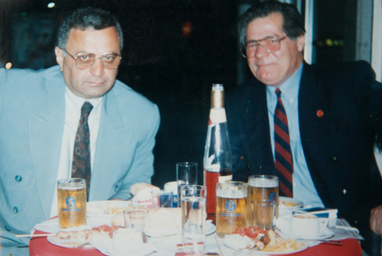 Gennady Alamya and Fadil Aryutaa, writer and translator from Syria, Greece, May 1995