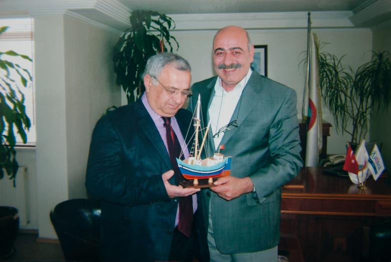 Gennady Alamiya and Mayor of Sinop, Turkey, 2007