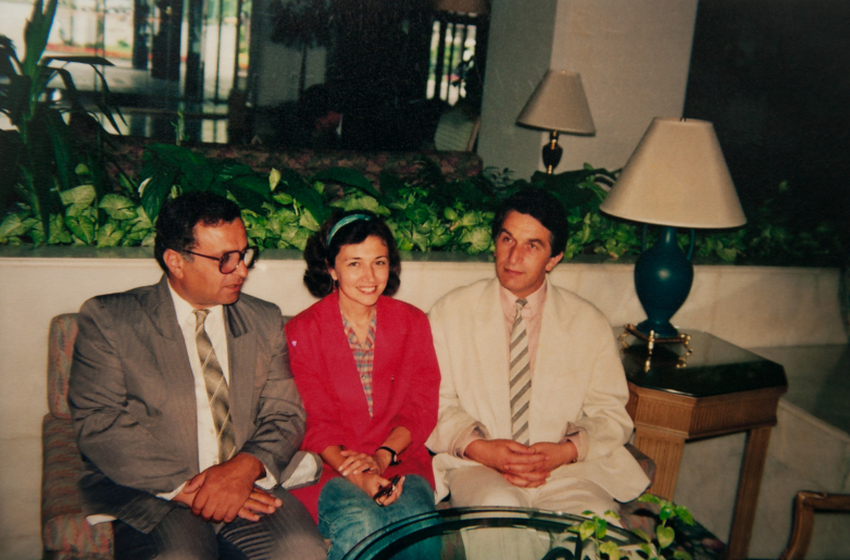 Gennady Alamiya and Vladislav Ardzinba, Gebze, Turkey, 1992. Picture taken by Abdulkadyr Ardzinba