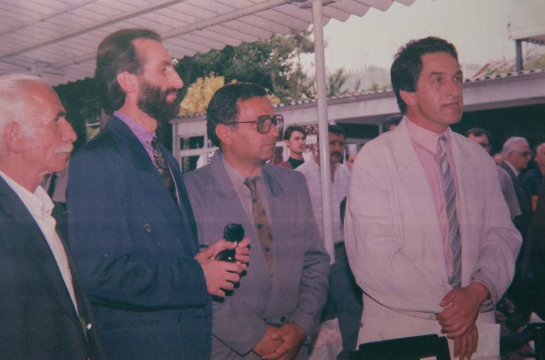 На фото: второй слева Нодар Чанба, Геннадий Аламиа, Владислав Ардзинба, Гебзе, Турция, 1992 год. Фото сделано Абдулкадыром Ардзинба