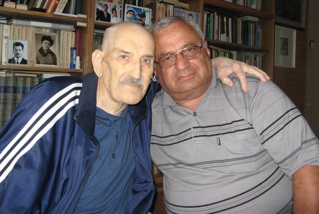 Journalist Zair Nadoev and Gennady Alamiya
