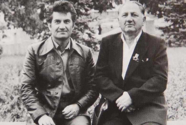 Тарас Шамба с отцом Мироном Шамба