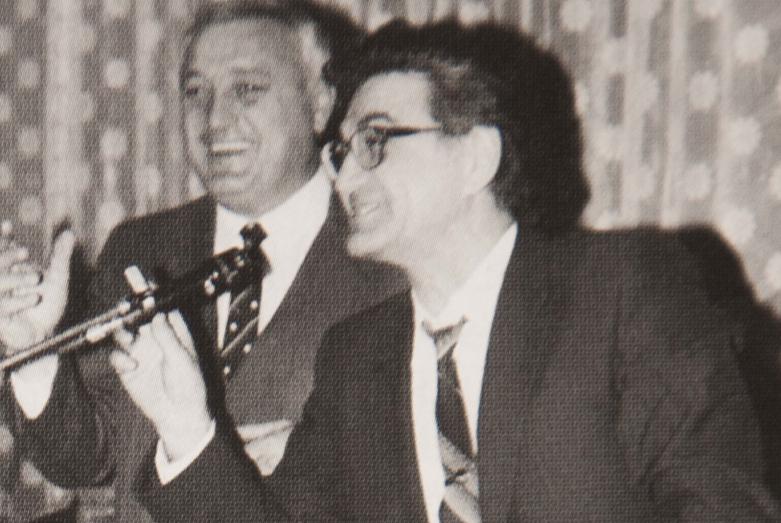 Встреча абхазского землячества, слева направо: Леонид Лолуа, Тарас Шамба, Москва, март 1977 года