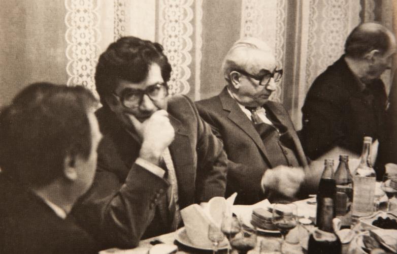 Встреча абхазского землячества, по центру Тарас Шамба и Георгий Гулиа