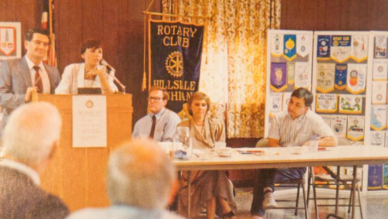 Встреча с представителями общин из России в Ротари-Клубе, США, 1978 год