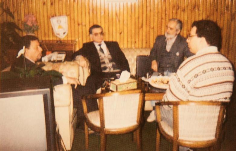 Тарас Шамба и Виктор Абаза на встреча с земляками, Египет