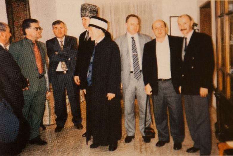 Абхазская делегация МАААН и представитель кавказской общины Иордании, шейх Абдыл Бакы Джамо, 1997 год