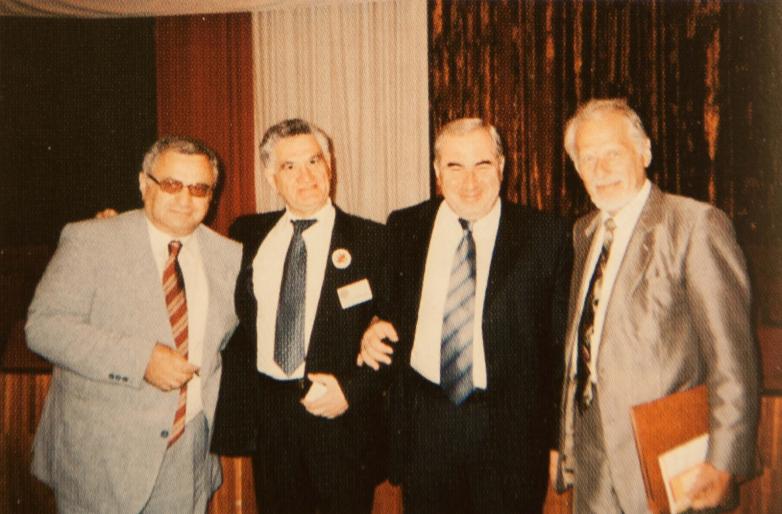 Делегаты IV Конгресса МАААН слева направо: Геннадий Аламиа, Тарас Шамба, Нугзар Ашуба, Александр Непрошин