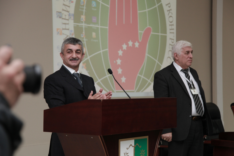 Mussa Ekzekov at the second meeting of the VII Congress of the World Abaza Congress, March 22, 2018