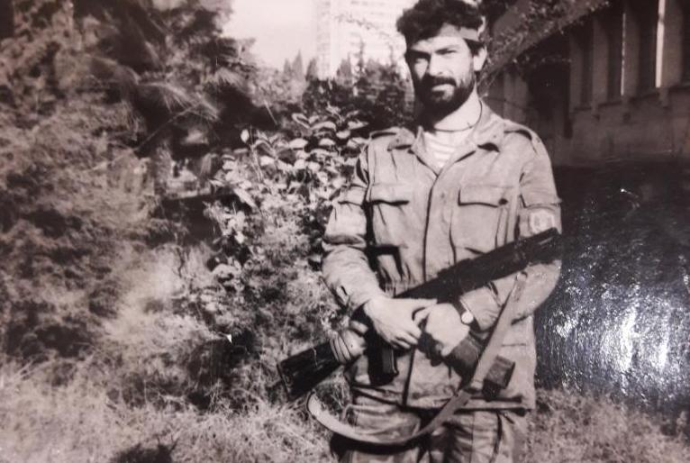 Доброволец Заур Дзугов во время Отечественной войны народа Абхазии