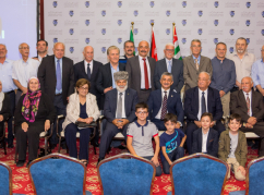A memory photo following the meeting of the WAC delegation with the Abkhaz-Abaza Diaspora of Jordan, August 26, 2019