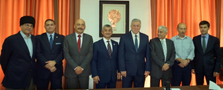 На встрече с руководством черкесского телевидения «Нарт ТВ» в Иордании