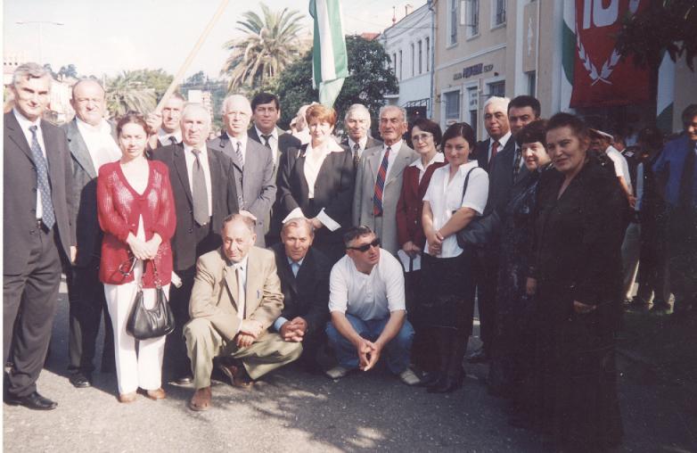 Магомет Кишмахов с делегацией из КЧР в Абхазии
