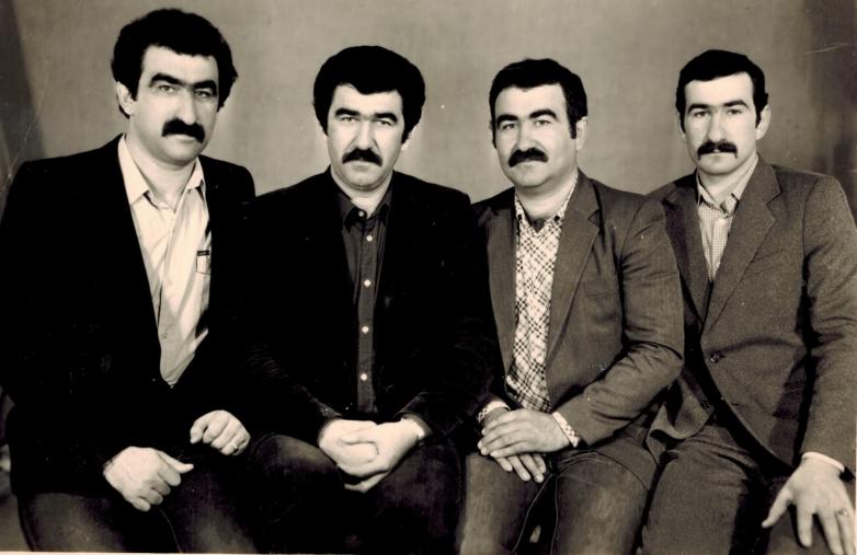 Братья Шенкао: слева направо - Мурат, Мухадин, Заудин и Мухарби, Черкесск