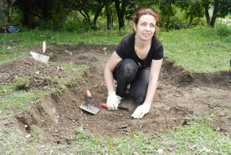 Археологические раскопки в селе Анхуа, Абхазия, 2013 год