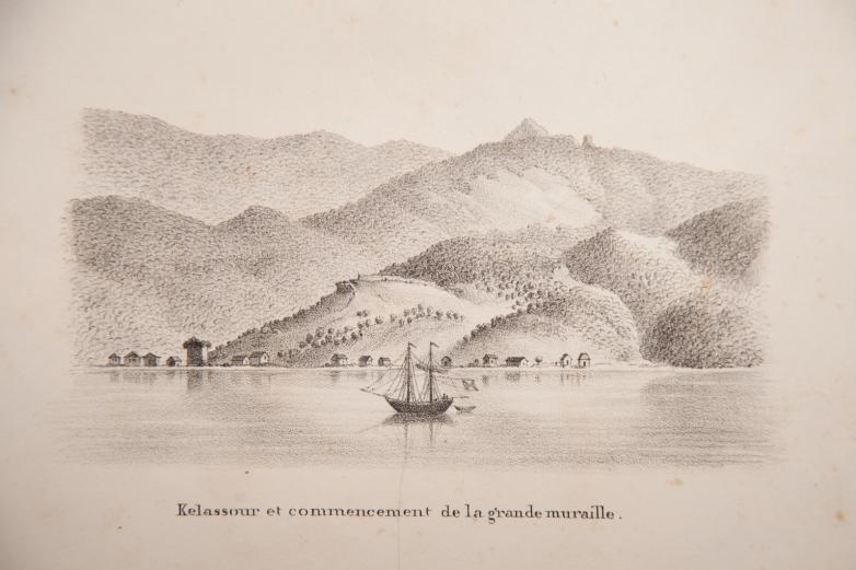 Келасур, рисунок Дюбуа де Монпере © Из атласа Дюбуа де Монпере «Путешествие по Кавказу»