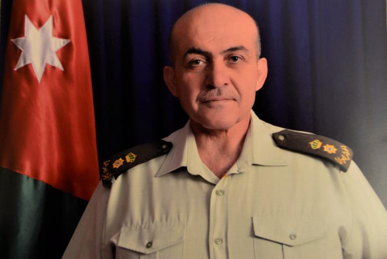 Азиз Абаза (Мхце) незадолго до выхода на пенсию со службы в Главном управлении разведки Иордании