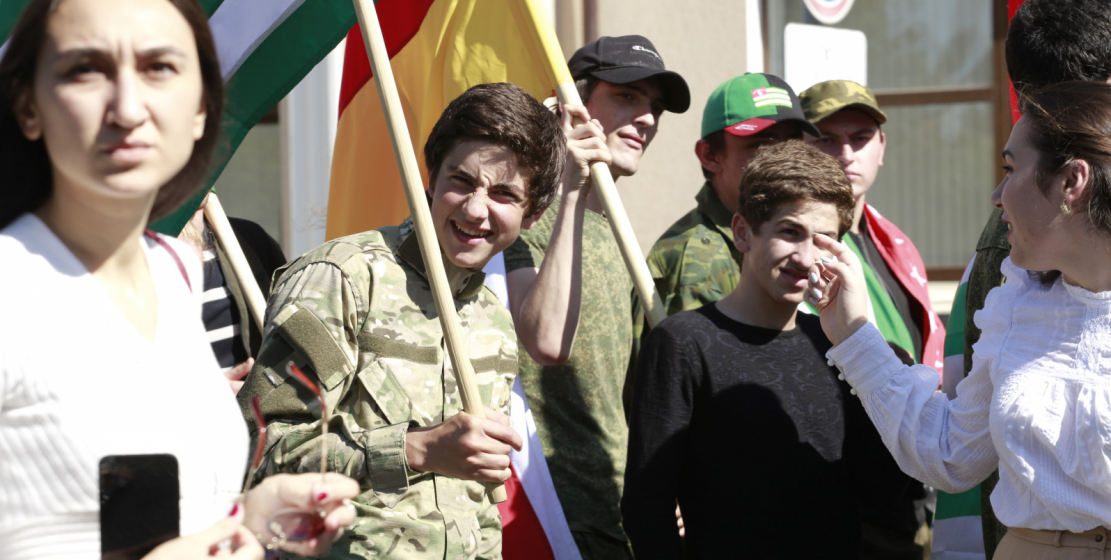 On this day, the Abkhaz flag fluttered over the streets of Abkhazia.