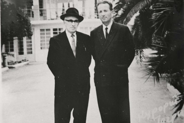 Иван Папаскир и Михаил Трапш, Гагра, 1962 год