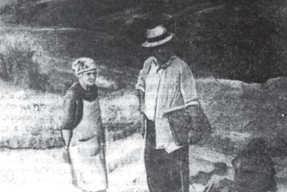 Михаил Трапш в 1962 году на раскопках в Цебельде