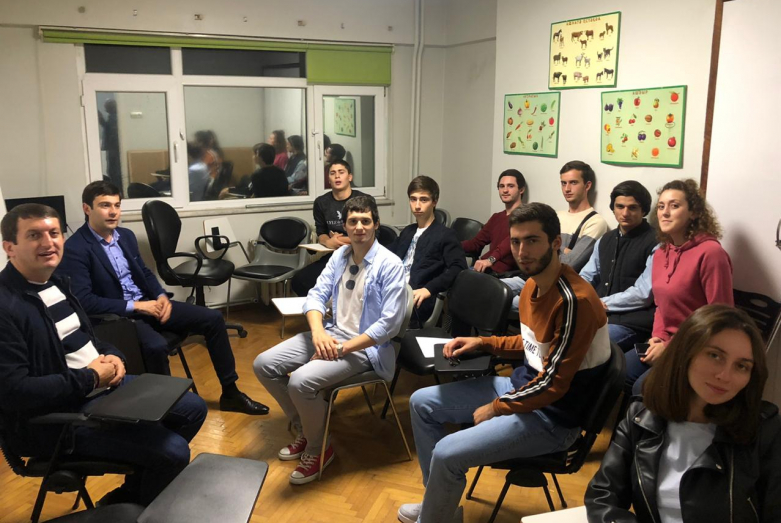 Inar Gitsba, Vadim Kharazia, Dzhansukh Lazba and Akhmet Khapat met with students from Abkhazia studying at the University of Sakaria.