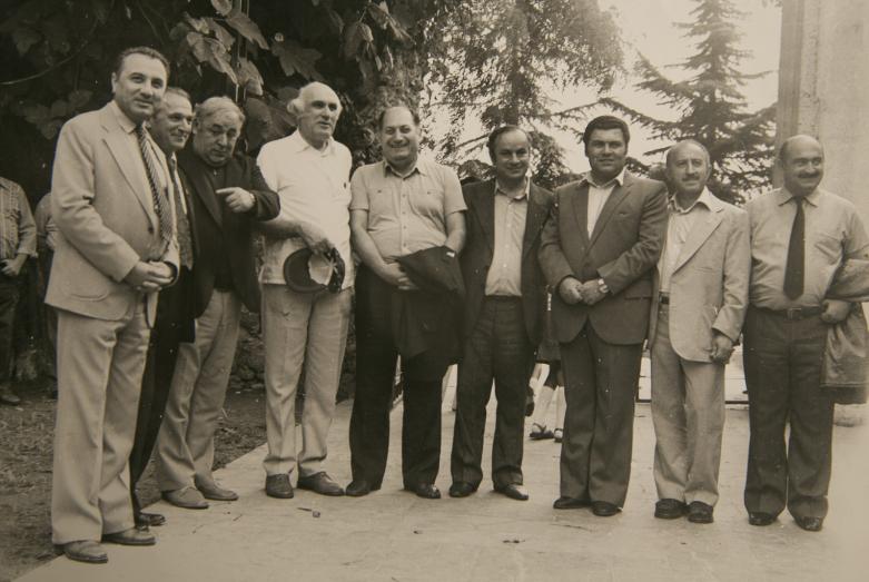 Энвер Капба (первый слева), 1980-е