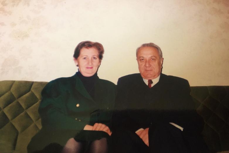 Энвер Капба с супругой Изольдой Званбая-Капба