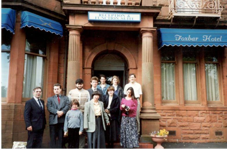 Джордж и Заира Хьюитт с дочерью Гундой в составе абхазской делегации в шотландском городе-побратиме Сухума Килмарноке