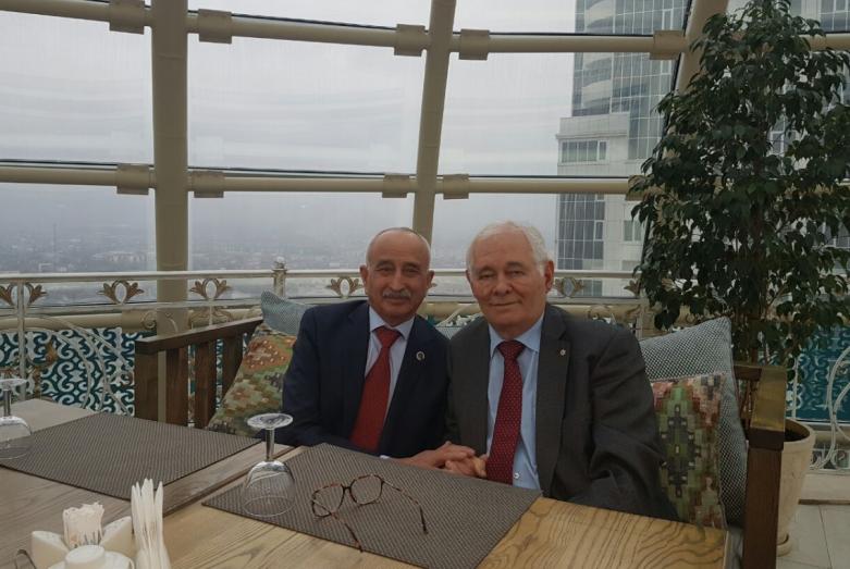 Заудин Хунов и Леонид Рошаль, Грозный, 2018 год