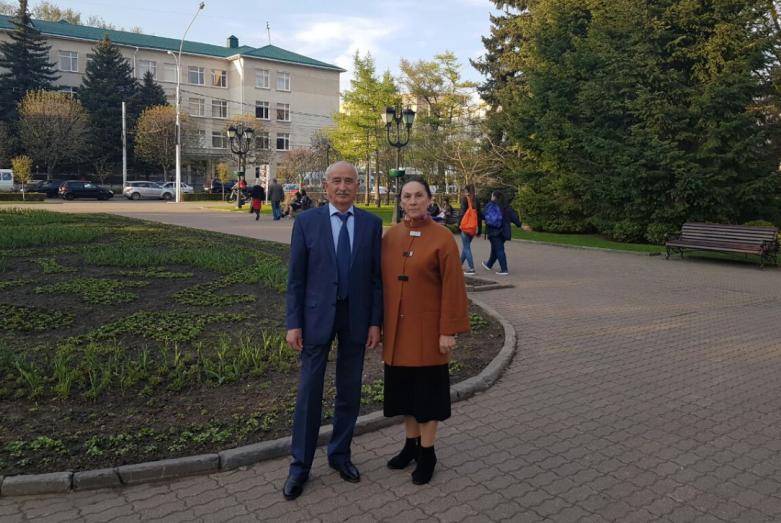 Заудин Дагазович с супругой Марией, Ставрополь, 2017 год