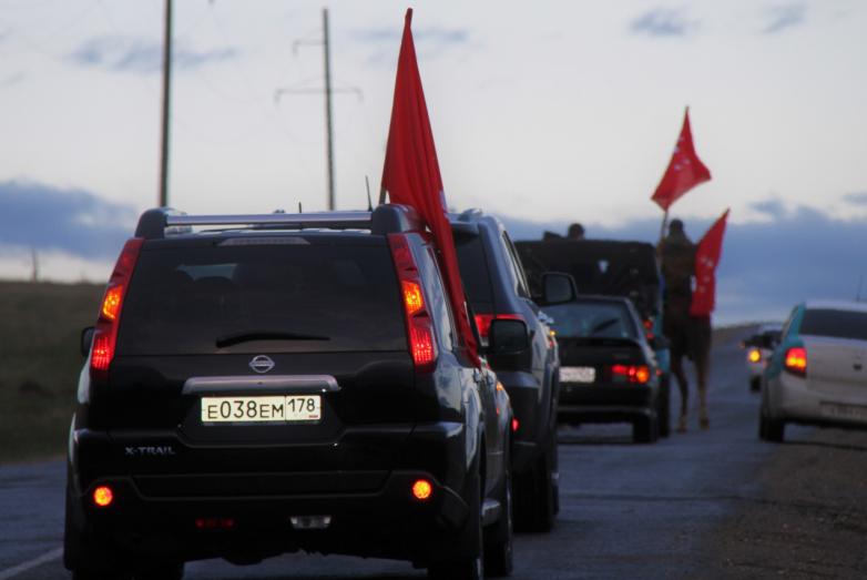 Участники автоколонны из КЧР в Абхазию