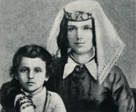 Николай Марр с матерью, 1870 год