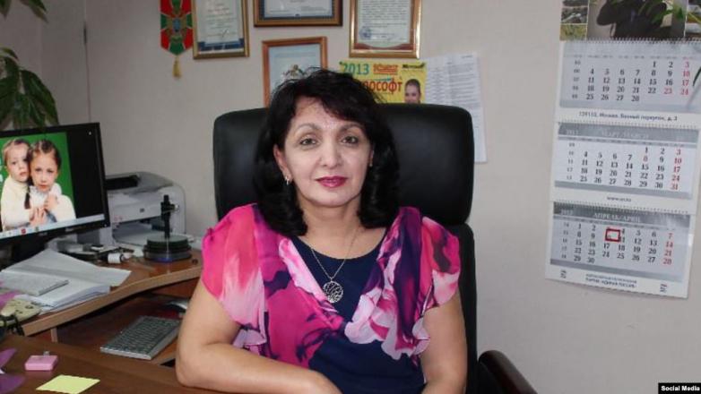 "Editor of the ""Abazashta"" newspaper Fardaus Kulova"