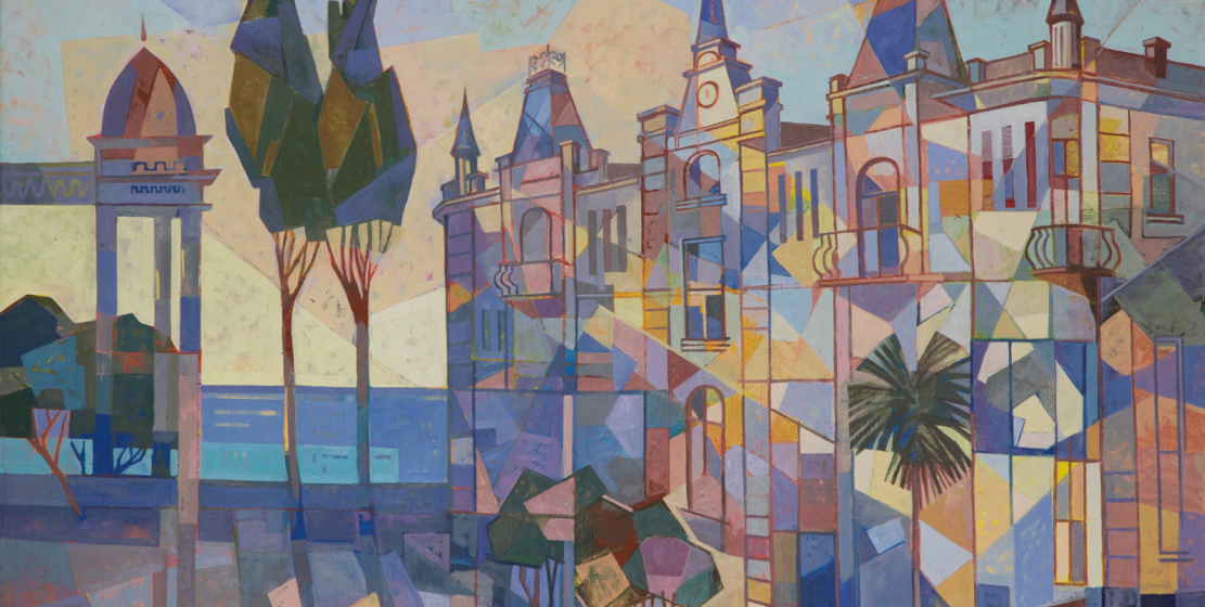 Sukhum embankment, 2000s, oil on canvas