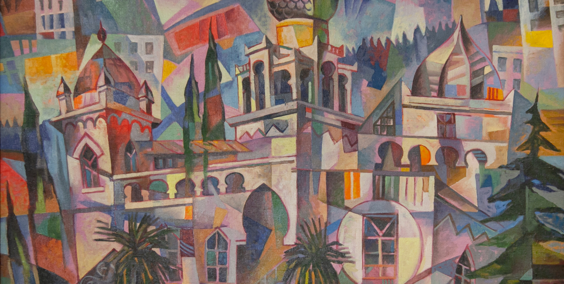 Aloisi's villa, Sukhum, 2000s, oil on canvas