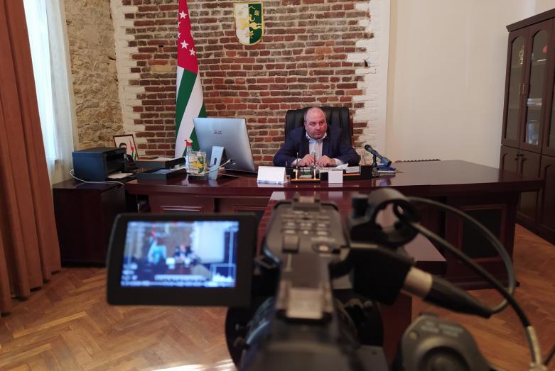 Пресс-конференция министра здравоохранения Абхазии Тамаза Цахнакия 19 мая 2020 года