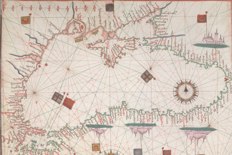 Portolan atlas of the Black Sea and Eastern Mediterranean by Juan Martinez, Italy, circa 1578
