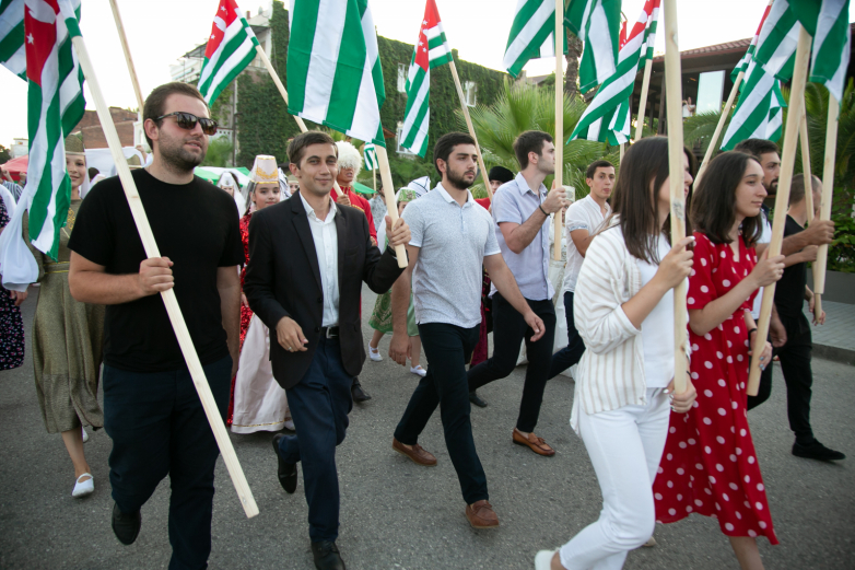 National Flag Day celebrated in Sukhum with festivities