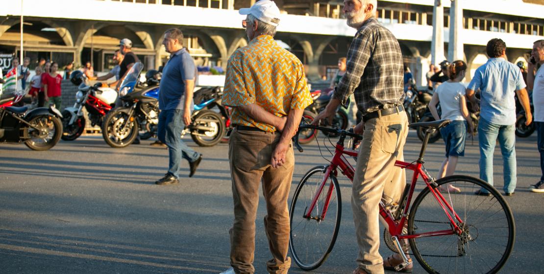 В праздничном велопробеге участвовали и представители старшего поколения