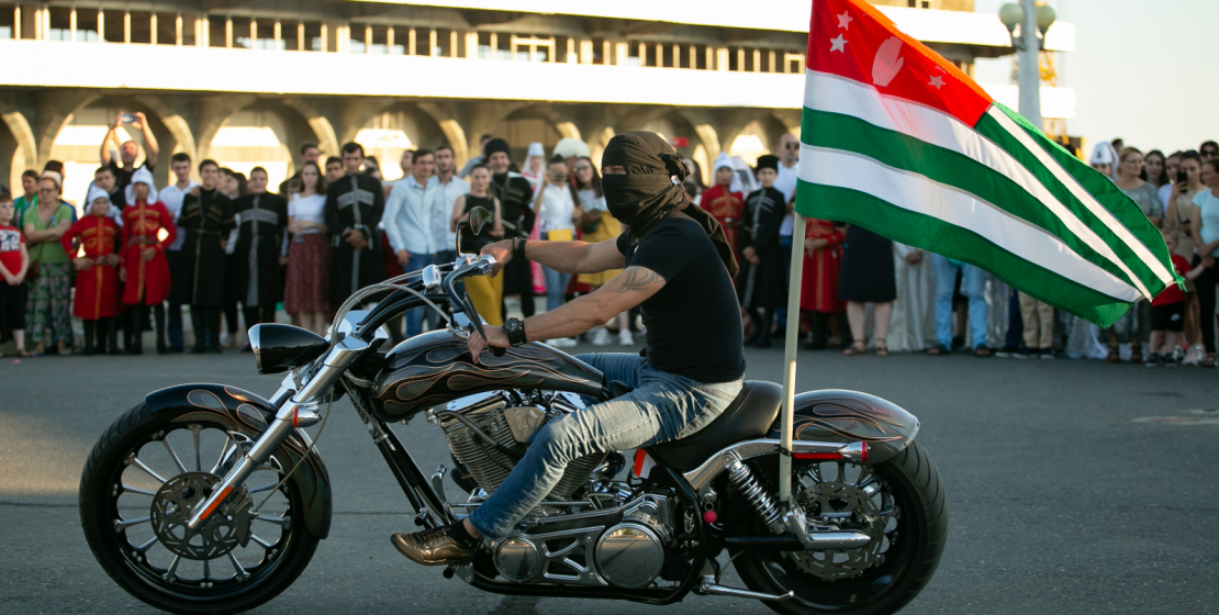 Everyone could take a photo with bikers. There were many people interested in.