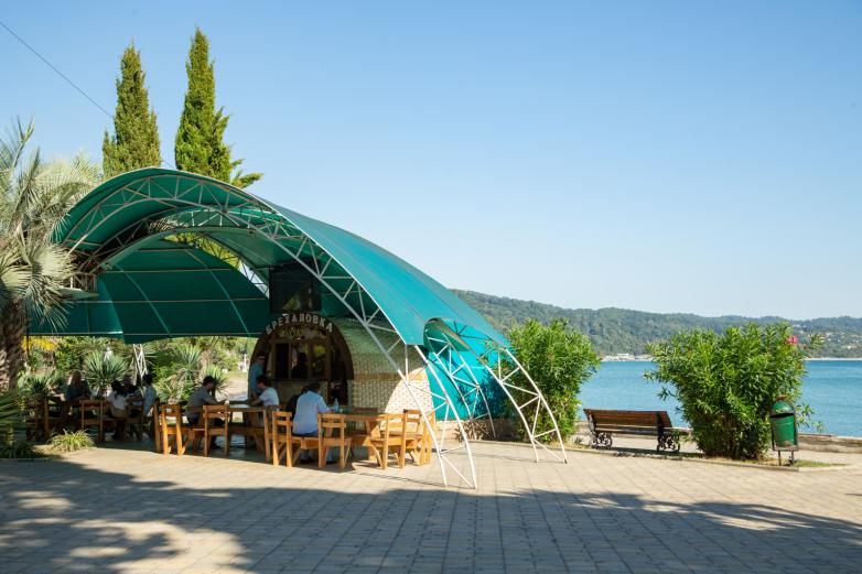 """""""Brekhalovka"""" cafe on the embankment of Sukhum, 2020"""