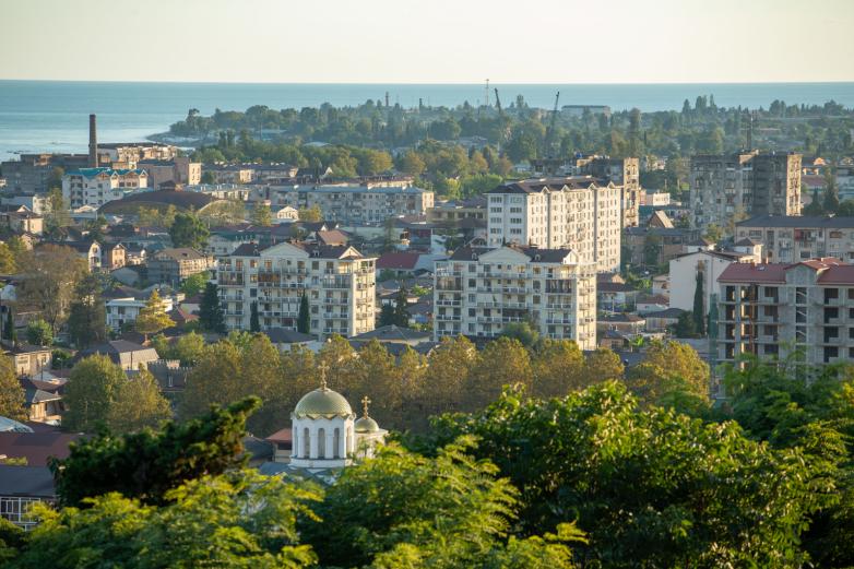 Sukhum, town view, 2020